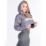 Nebbia Толстовка Cropped Jacket 276 Grey